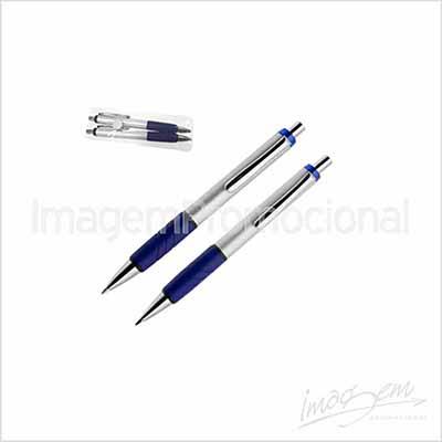 Imagem Promocional - Conjunto de caneta e lapiseira, cores disponíveis VM / AZ / VD / PT / AM