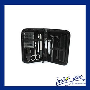 Imagem Promocional - Kit manicure / barbear masculino com 10 peças