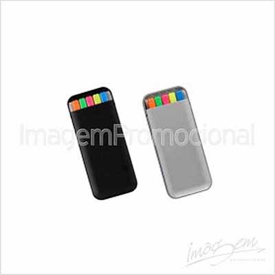 Imagem Promocional - Kit de canetas marca texto com 05 cores