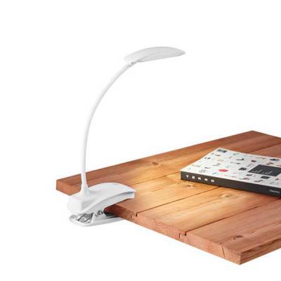 Imagem Promocional - ABS. LED COB. Com mola, braço flexível e botão tátil com 3 modos de luz (fraco, médio e forte). Autonomia até 20 horas. Incluso cabo USB. 115 x 55 x 3...