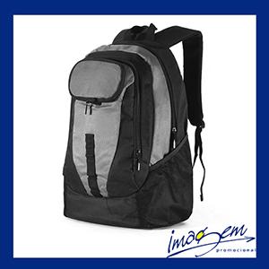 Imagem Promocional - Mochila com porta-notebook na cor preta com cinza