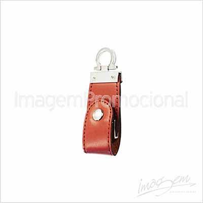 Imagem Promocional - Pen drive de couro. Capacidade de 4gb