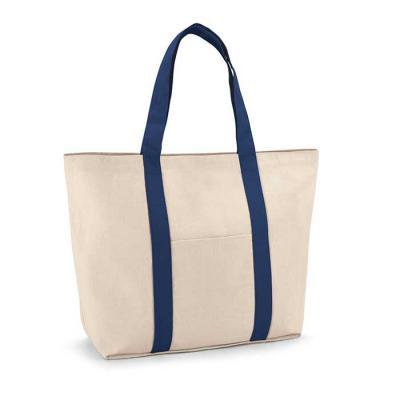 Imagem Promocional - 100% algodão canvas: 280 g/m². Bolso bolso frontal e bolso interior com zíper. Com fecho magnético e alças de 60 cm. 530 x 380 x 170 mm.