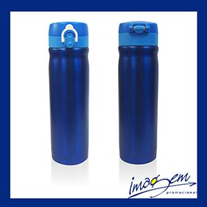 Imagem Promocional - Squeeze de aço inox 500ml azul térmico