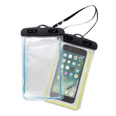 Classic Pen Brindes - Capa impermeável transparente para celular. Possui contorno colorido na capa, suporte plástico superior com fivelas rotatórias(basta rotacioná-las par...