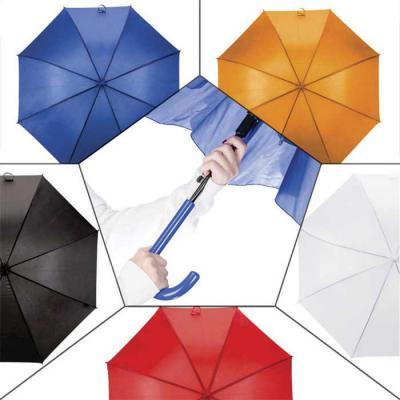 Classic Pen Brindes - Guarda-chuva colorido com tecido de nylon e abertura automática, basta acionar o botão inferior. Possui 8 varetas pretas de aço, pegador e bico superi...