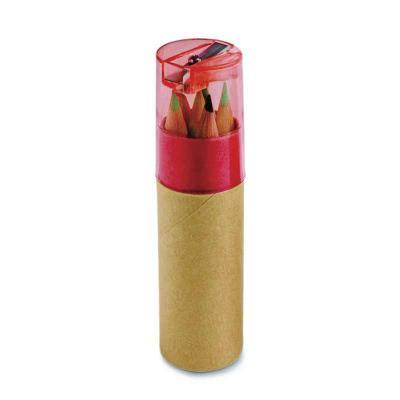 Classic Pen Brindes - Caixa de cartão com 6 mini lápis de cor