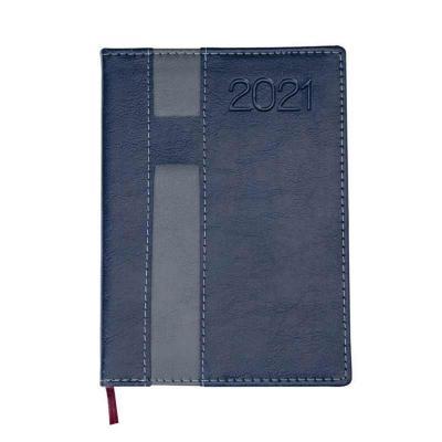 Classic Pen Brindes - Agenda diária 2021 de couro sintético com suporte para caneta. Contém fita de cetim marca página, dados pessoais, calendário de 2020 à 2022, mapa do B...
