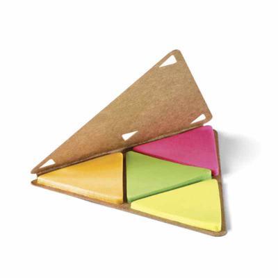 Classic Pen Brindes - Cartão sticky notes personalizado para brindes. 4 cores com 25 folhas cada. Tamanho total (CxD) : 91 x 91 mm