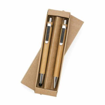 Classic Pen Brindes - Conjunto caneta touch e lapiseira de bambu