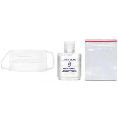 Classic Pen Brindes - Kit com necessaire, álcool gel e máscara