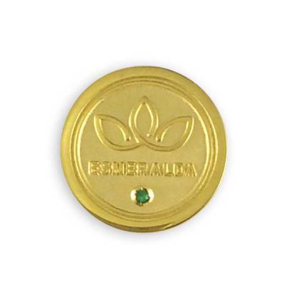 87d261cb9 mkorn - Pin personalizado em metal banhado a ouro 18 quilates