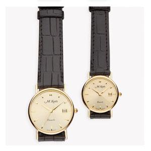 MKorn - Relógio de pulso análogo com mecanismo quartz e caixa em ouro 18k.