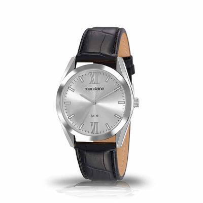 MKorn - Relógio de pulso Mondaine análogo quartz, mostrador com index, pulseira de couro.   - Resistente a água - Garantia de um ano  - Embalagem de plástico...