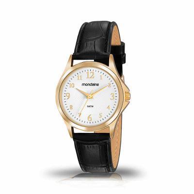 MKorn - Relógio de pulso Mondaine análogo quartz, mostrador com números arábicos, pulseira de couro.  - Resistente a água  - Garantia de um ano  - Embalagem d...