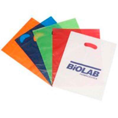 Galeon Brindes e Embalagens Promocionais - Sacola plástica em PEBD e PEAD - alça vazada