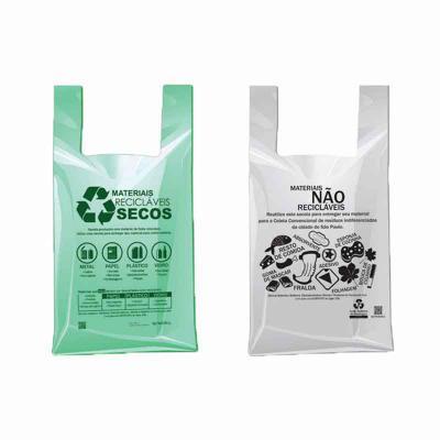 galeon-brindes-e-embalagens-promocionais - Sacola plástica em PEBD e PEAD - alça camiseta