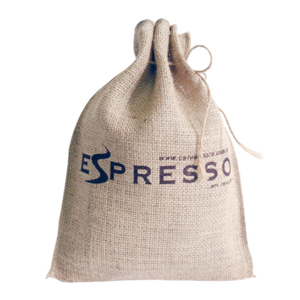Galeon Brindes e Embalagens Promocionais - Saco personalizada em juta - Medidas: 23 x 30 cm com cordão e silk 1 cor.