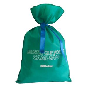 Galeon Brindes e Embalagens Promocionais - Saco personalizado em TNT com fita solta, silk 1 cor.