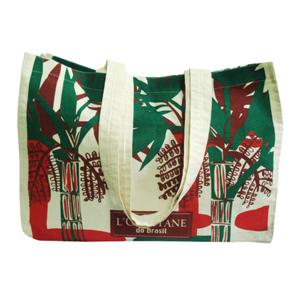 galeon-brindes-e-embalagens-promocionais - Sacola personalizada em algodão cru - Medidas: 38 x 35 x 10 e 2 alças.