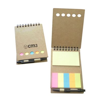CM3 - Bloco de anotação ecológico com sticky notes