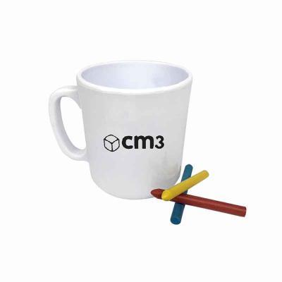 06eff2628 CM3 - Caneca para colorir 400 ml personalizada - branco