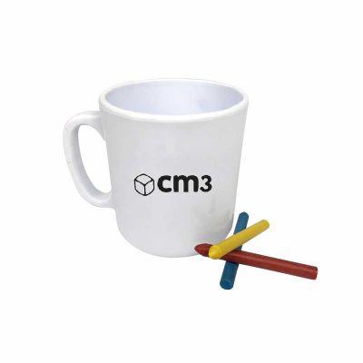 CM3 - Caneca para colorir personalizada , incentivando a criatividade infantil e a interação com a sua marca                  Medidas em cm: D8,5 / H9,5 Esp...