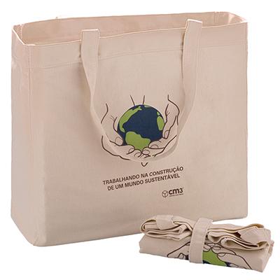 CM3 - Sacola compacta ecológica. Sacola ecológica dobrável, ideal para eventos, promoções e incentivo a vendas. Medidas em cm: L43,0/H36,0/P12,5 - dobrada L...
