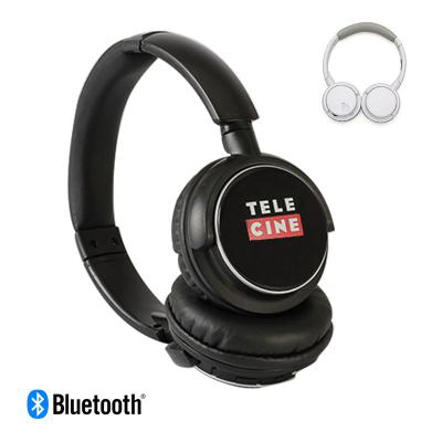 Plus Brindes - Fone bluetooth personalizado sem fio e regulável. Headphone personalizado com entrada para mini cartão SD de até 32Gb e entrada auxiliar P2 (não inclu...