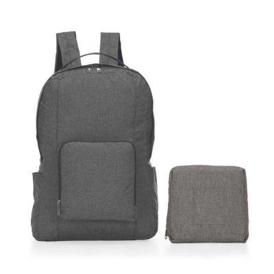 Plus Brindes - Mochila personalizada feita em poliéster. Mochila dobrável personalizada que pode ser compactada por mais da metade de seu tamanho. Possui alça de mão...