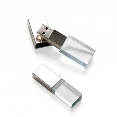 plus-brindes - Pen Drive Vidro 4GB