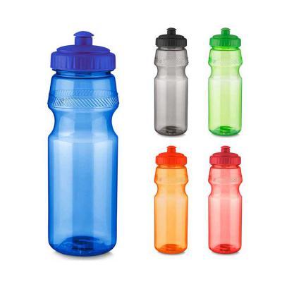 Plus Brindes - Garrafa personalizada tipo squeeze, com capacidade de 750 ml. Squeeze personalizada toda feita em plástico, com tampa rosqueada e bico com trava. Medi...