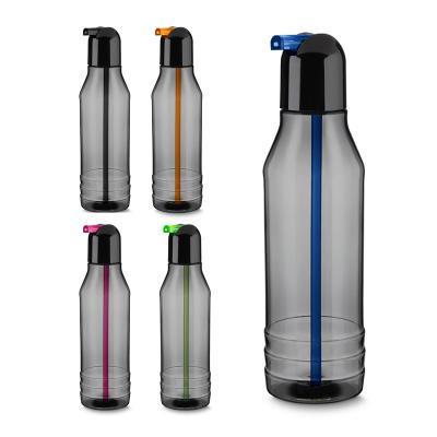 Plus Brindes - Squeeze plástica 600 ml com canudo retrátil colorido.  Em Plástico PS (Policarbonato)  Medidas: 23 x 7,5