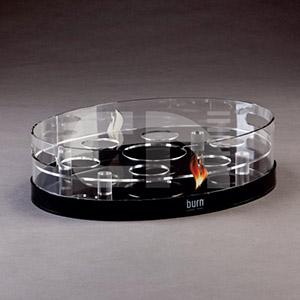 CN Acrilycs - Bandeja em acrílico cristal e preto.