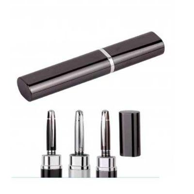 Duna Brindes - Caneta de metal com corpo disponível nas cores preta, prata e champagne em uma embalagem de tubinho personalizada a laser com sua logomarca.