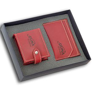 Duna Brindes - Kit feminino contendo um porta-batom e um porta-cartão