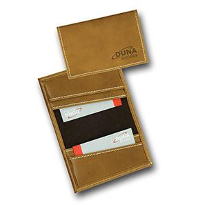 Duna Brindes - Porta-cartões confeccionado em couro legítimo, sintético ou ecológico
