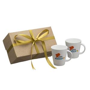 Dumont Porcelanas - kit personalizado com 2 canecas coni - 220 ml.