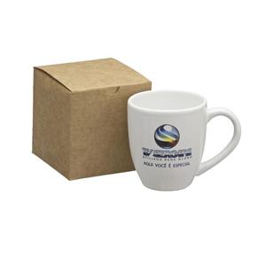 Dumont ABC Porcelanas Personalizadas - Kit personalizado com caneca organic branca - 360 ml.