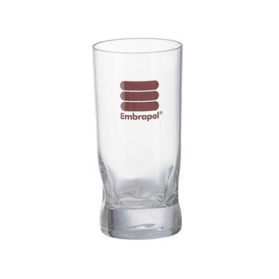 Dumont Porcelanas - Copo amassadinho-310ml em vidro personalizado.