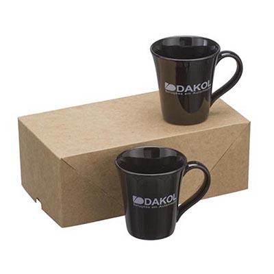 Dumont ABC Porcelanas Personalizadas - Kit com 2 canecas tulipa 330ml e embalagem kraft.