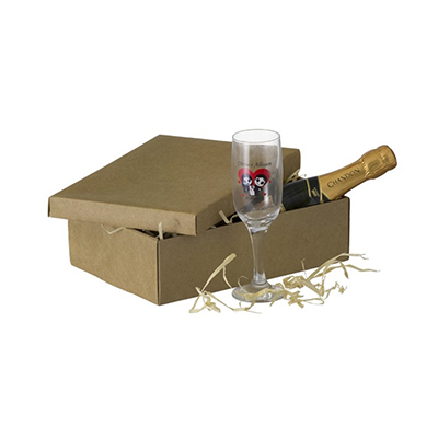 Dumont ABC Porcelanas Personalizadas - Kit personalizado com 1 taça de champanhe e 1 chandon Baby.