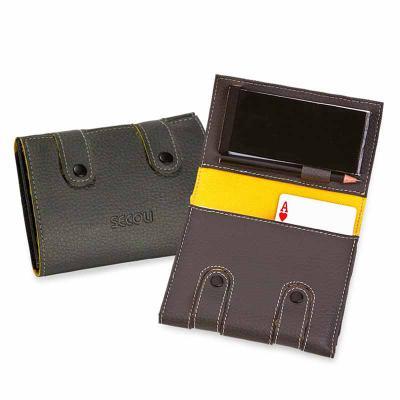 Secoli Brindes - Kit jogos com bloco de anotações e porta caneta/lápis.Conquiste seus clientes nos pequenos detalhes!