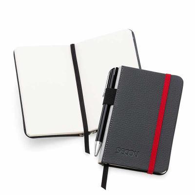 Secoli Brindes - Caderneta de Anotações lúdica e de fácil transporte, deixando sua marca junto ao seu cliente
