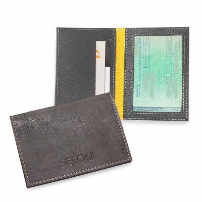 Secoli Brindes - Porta documentos que facilita a visualização da documentação e mantém cartões organizados.