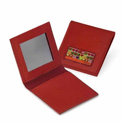 Secoli Brindes - Peça compacta de ótimo custo x benefício, charmosa e prática que transporta, com segurança, itens pequenos de beleza, como espelho e pinça.