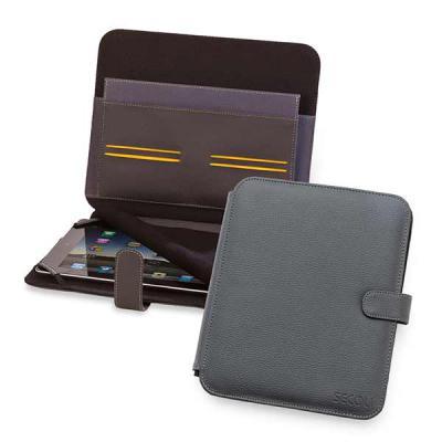 Secoli Brindes - Capa para tablet com bolsos, fixação do aparelho por elástico e proteção para tela. Auxilie seu cliente diariamente!