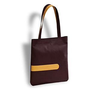 Secoli Brindes - Sacola com forro impermeável, base flexível e alça bicolor.