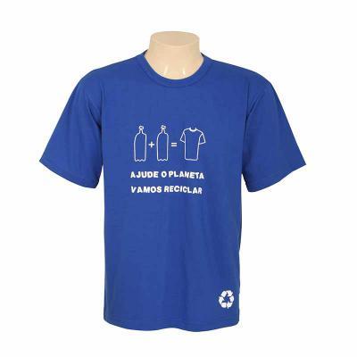bonifor-brindes - Camiseta em malha de garrafa pet, alta qualidade, ótima durabilidade. Composta 50% de fios de algodão e 50% fios de poliéster reciclado de garrafa pet...
