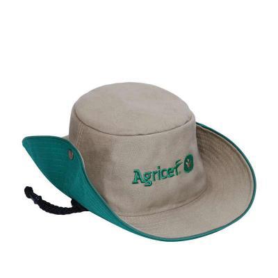 bonifor-brindes - Chapéu modelo Safari com botão e cordão com pingente. Diversas cores e tecidos. Consulte nossos preços.